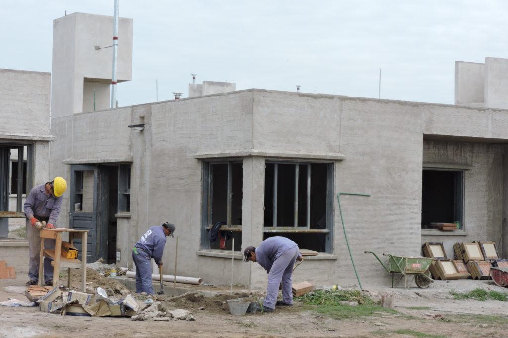 Viviendas Barrio Florida, en Palpalá, en construcción para el sorteo.