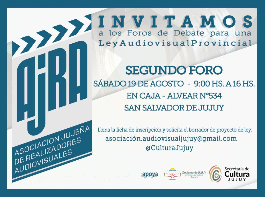 Invitación al 2º Foro debate para una Ley Audiovisual Provincial.